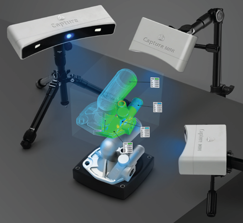 3d systems capture blue light 3d scanner
